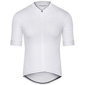 Men lightweight cycling jersey Micheline white