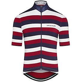 Men's Breton cycling jersey Francine navy red