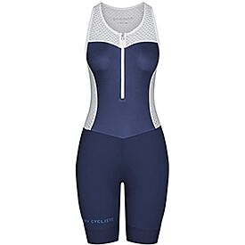 Women's colour bib shorts Marinette navy