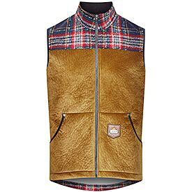 men's outdoor vest Lisette golden brown