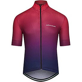 Men's superlight cycling jersey Fleurette red fade