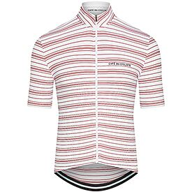 Men's Breton cycling jersey Francine white red