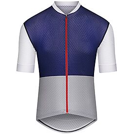 Men lightweight cycling jersey Micheline navy & grey