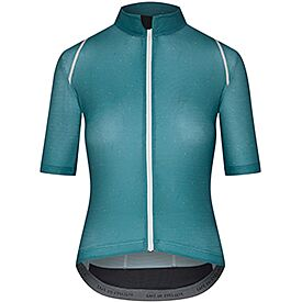 Audax cycling jersey for women Mona peacock blue